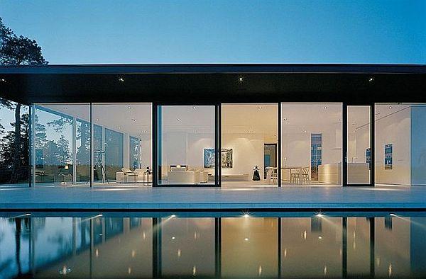 backside lavish verandh with swimming pool
