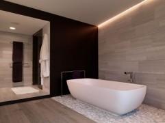 Einfamilienhäuser-Villa-Badezimmer-Onstage