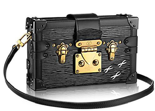 The Petite Malle Epi beautifully mixes Louis Vuitton craftsmanship with a bold, stylish statement. Reflecting the Maison's heritage in trunkmaking, it is adorned with the crosses signature of world traveler Albert Khan. Ageless and perfect for day to night chic.