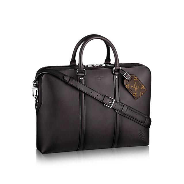 louis vuitton porte documents voyage ombre leather men s bags m pm front view