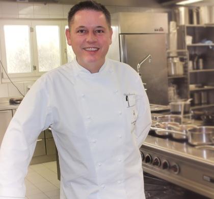 The chef Urs Gschwend